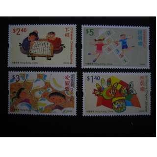 香港2004-我最喜愛的玩具和遊戲-郵票