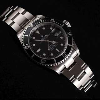 Rolex Submariner Date 16610 Non-Ceramic 'V' Rehautte