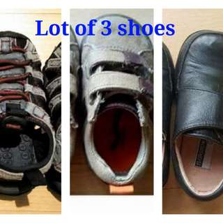 Lot of 3 shoes (gymboree, Florsheim, Stride rite)