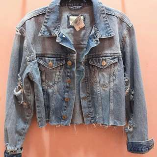 Forever21 Denim Acid Jacket