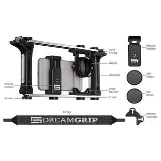 youtuber必備-Dreamgrip 手機電影全功能套件 專業版 (無閃光燈、指向性麥克風)