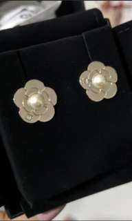 BNIB Authentic Chanel Dainty Camellia Earrings