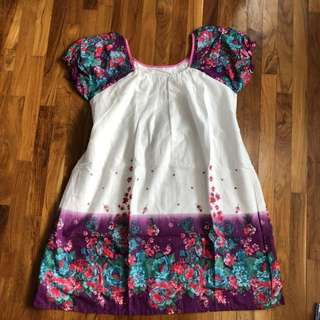Dress ~ White purple flower