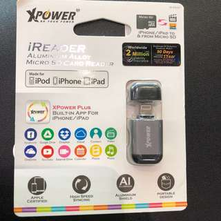 Brand new OTG reader for iPhone. Brand: xpower from Hong Kong