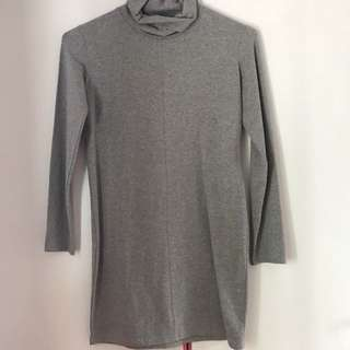 TEM Grey Turtleneck Dress