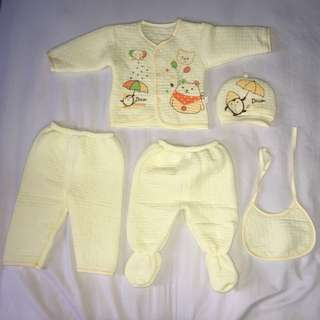 Newborn Baby Set 0-3months (2colours) blue&yellow