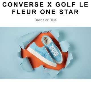 Converse X Tyler the creator golf le fleur size 7 6.5 blue supreme off white