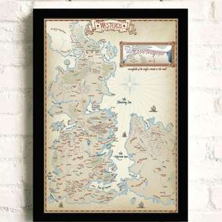 Game of Thrones Westeros and Narrow Sea Map