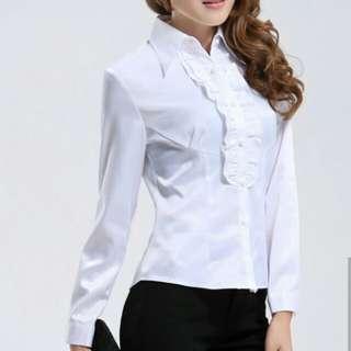 Baju kerja putih wanita