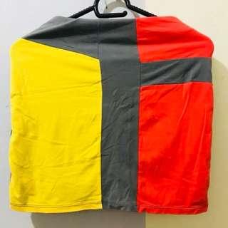 REPRICED!! Colorblock Mini Skirt