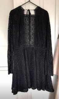 Show Po double date black lace dress