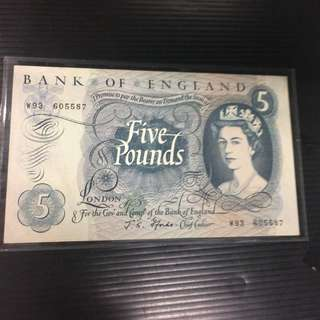 Bank of England 5 Pound EF+