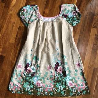 Dress ~ Beige flower