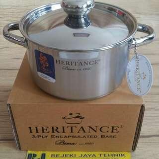 Panci Bima Heritance Pro Lite Saucepot 18 cm Stainless