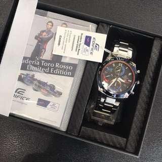 Limited Edition Casio Edifice Red Bull Racing Scuderia Toro Rosso EFR557TR FREE DELIVERY