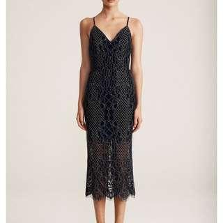 Shona Joy - Lace Cocktail Midi Dress