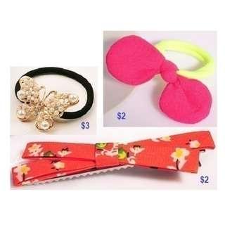 Hair Accessories - Hair Tie and Hair Clip