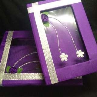 Kotak seserahan ungu 2pcs