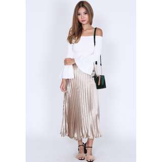Skirt Pleated Gold and silver