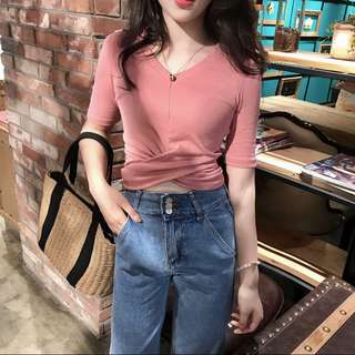 Cropped wrapped top (3 Colors)