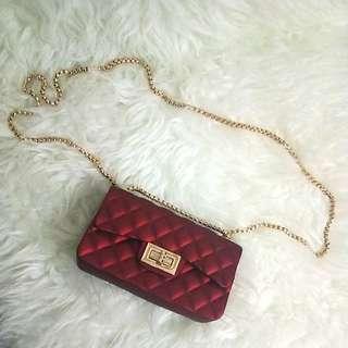 NEW jelly matte chanel slingbag