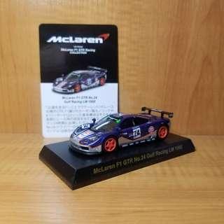 京商 Kyosho 1/64 - McLaren F1 GTR (Gulf Racing #24, LeMans 1995)