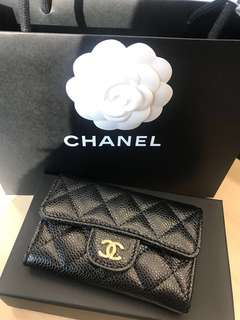 Chanel card holder mini wallet