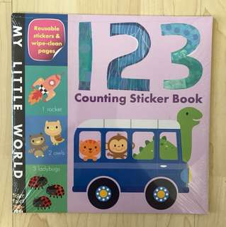 My Little World 123 Counting Sticker Book