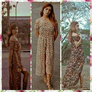 One/Two slit maxi romper