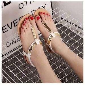 Sandal jepit teplek white