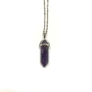 Amethyst Quartz Necklace NEW