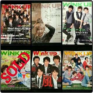 Wink Up Magazine Back Issues Preloved Arashi Hey Say Jump Kisumai NYC Johnnys Jr Smap