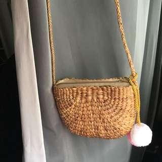 Rattan Sling Bag