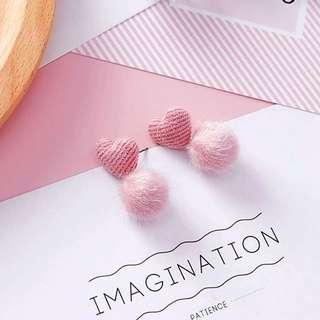 Velvet Heart Dangle Earrings