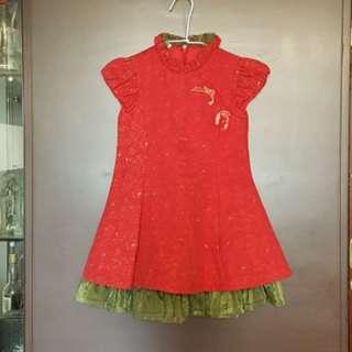 🚚 喜氣洋洋紅色洋裝