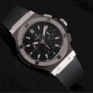 Hublot Big Bang Steel Diamonds Bezel chronograph