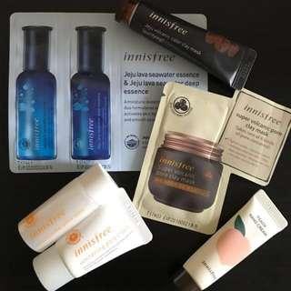 Innisfree Sample/ Mini Products (Skin,Moisturizer,Mask,Hand Cream)