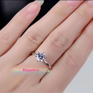6 claw diamond ring