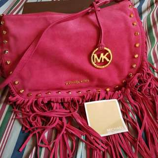 Authentic Michael Kors Pink Suede Bag