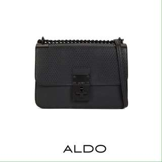 Authentic Aldo Snake Embossed Flap Crossbody