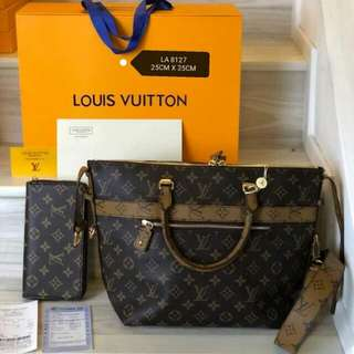 Lv handbag set 2in1 wallet