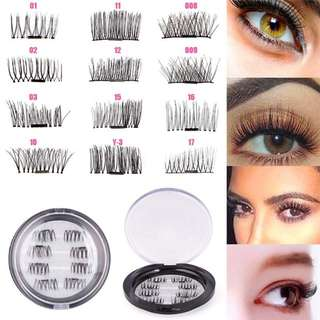 8pcs/set Ultra Thin Magnetic Eyelashes