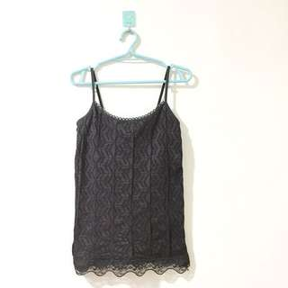 Laced black sando