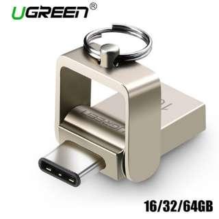 Ugreen USB Thumbdrive Flash Drive 16/32/64GB OTG Metal USB 3.0 / USB Type C