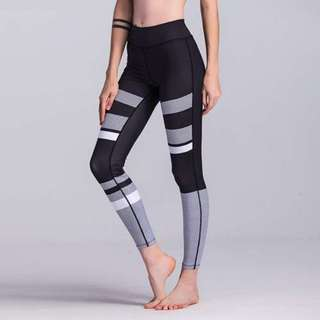 3D印花瑜伽健身運動打底褲/3D printed sports leggings