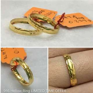 916 Gold Adult Ring size 15.5 or 16