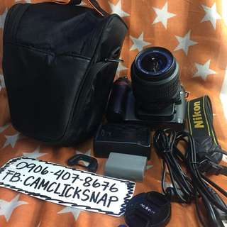 Nikon d80 body with 18 55mm vr lens bag and accessories