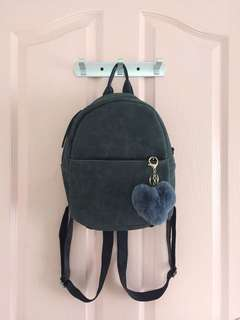 Gray Suede Backpack - Women