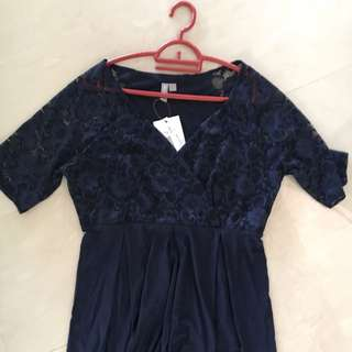 Navy Asos Nursing Maternity Dress UK Size 12