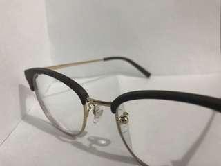 Viktor Rolf glasses 啡色木 眉框 中金 眼鏡